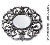 antique iron frame for mirror... | Shutterstock . vector #386003392