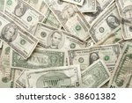 Background Of Us Currency Pile