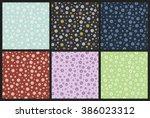 chamomile flowers pattern | Shutterstock .eps vector #386023312