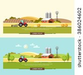 agriculture and farming.... | Shutterstock .eps vector #386024602
