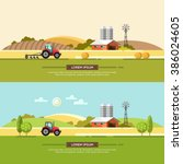 agriculture and farming.... | Shutterstock .eps vector #386024605