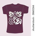 vector purple t shirt design | Shutterstock .eps vector #3860266