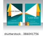 business brochure flyer design... | Shutterstock .eps vector #386041756