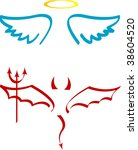 angel and devil attributes | Shutterstock .eps vector #38604520