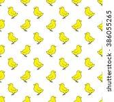 chickens seamless pattern. | Shutterstock . vector #386055265