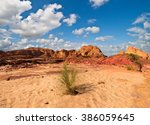 egypt sinai desert view  rocky... | Shutterstock . vector #386059645