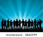 large group of friends | Shutterstock .eps vector #3860599