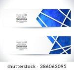 website header or banner set.... | Shutterstock .eps vector #386063095