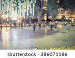 blur bokeh background group of... | Shutterstock . vector #386071186