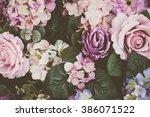 beautiful bouquet flower for... | Shutterstock . vector #386071522