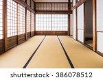 corridor of tatami mats and... | Shutterstock . vector #386078512