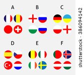 france cup groups circles   Shutterstock . vector #386094142