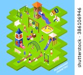 playground park poster | Shutterstock . vector #386106946
