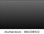 iron wire mesh pattern on black ... | Shutterstock .eps vector #386108422