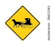 Road Sign   Amish Buggy And...