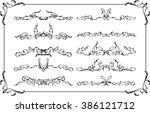fine retro divide rules set... | Shutterstock .eps vector #386121712