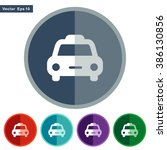 icons taxi for web and mobile | Shutterstock .eps vector #386130856