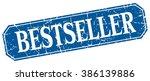 bestseller blue square vintage... | Shutterstock .eps vector #386139886