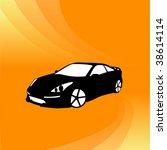 vector car on orange background | Shutterstock .eps vector #38614114
