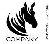 Stock vector modern horse logo 386147302