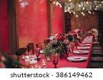wedding. banquet. marsala. in... | Shutterstock . vector #386149462