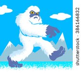 Stock vector cartoon yeti 386166832