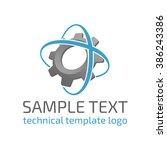 vector template logo gear. icon ... | Shutterstock .eps vector #386243386