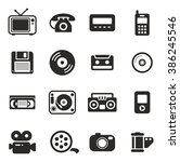old technology icons | Shutterstock .eps vector #386245546