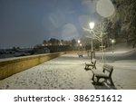 Night Scenery Of Snowy Prague...