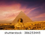 sunset in cairo  egypt | Shutterstock . vector #386253445