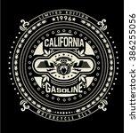 motor gasoline typography  t... | Shutterstock .eps vector #386255056
