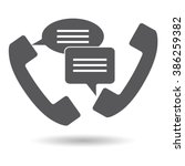 support  call center handset... | Shutterstock .eps vector #386259382