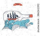 sailing ship in the bottle ...