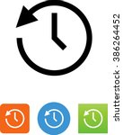 clock going backwards  ... | Shutterstock .eps vector #386264452