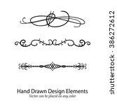 abstract vector design elements ... | Shutterstock .eps vector #386272612