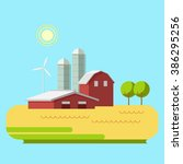 vector illustration rural... | Shutterstock .eps vector #386295256
