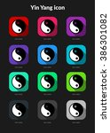 yin yang ui app icons set for...