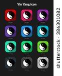 yin yang ui app icons set for...