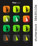 pear icons set for icon...
