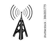 black telecommunications signal ... | Shutterstock .eps vector #386301775