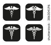 caduceus symbol in four...   Shutterstock .eps vector #386304196