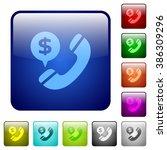 set of money call color glass...
