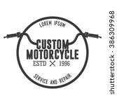motorcycle badge | Shutterstock .eps vector #386309968