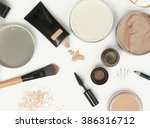 top view of different cosmetics ... | Shutterstock . vector #386316712