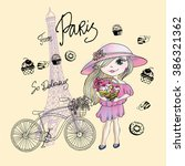 from paris delicious card | Shutterstock .eps vector #386321362
