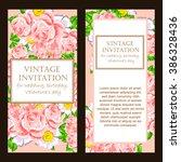 vintage delicate invitation... | Shutterstock . vector #386328436
