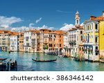 view of the grand canal with... | Shutterstock . vector #386346142