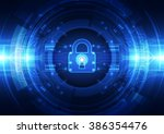 abstract security digital... | Shutterstock .eps vector #386354476