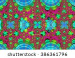 colorful fractal background. a... | Shutterstock . vector #386361796
