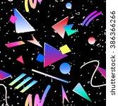 abstract seamless pattern... | Shutterstock .eps vector #386366266